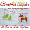 Banner for Last minute Christmas Sampler QAL (Sewing Under Rainbow) Tags: christmas paper quilt patterns free blocks piecing