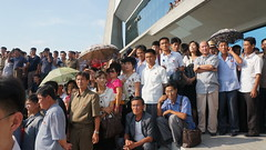 Pro-wrestlers including The Beast entertain a crowd of North Koreans (uritours) Tags: northkorea dprk coréiadonorte sportvemcoréiadonorte globoemcoréiadonorte