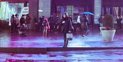 You're Not Alone (hafeez raji) Tags: rain lady night nikon manhattan streetphotography raining wetstreets nikond300