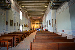 Mission San Miguel (simpsongls) Tags: california building church architecture religious hall indoor historic altar aisle column missions pews fatherserra franciscans