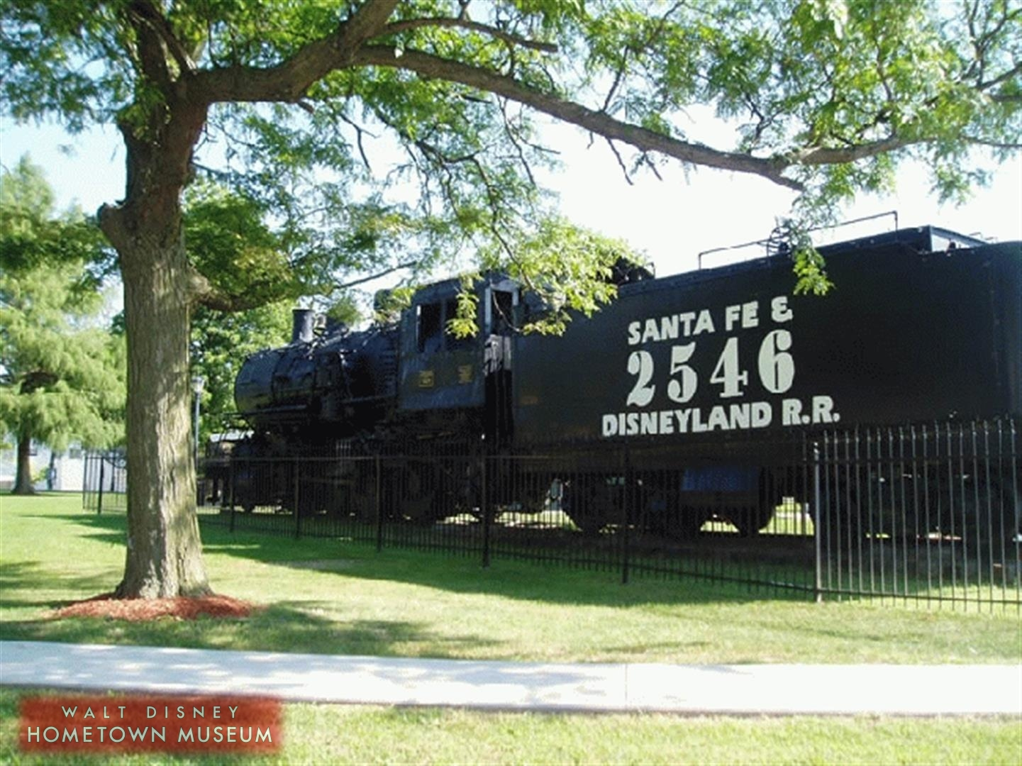 Santa Fe 2546 steam engine in E.P. Ripley Park, Marceline, MO