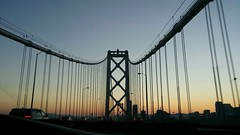 Sunset Baybridge at San Francisco-Oakland Bay Bridge (Mari94560) Tags: sunset baybridge
