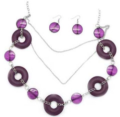Glimpse of Malibu Purple Necklace K1A P2410A-4