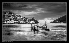 DARTMOUTH-LOWER-FERRY-1000 (jeremy willcocks) Tags: blackandwhite water boat devon dartmouth kingswear southhams carferry 23mm jeremywillcocks fujix100t