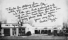Pozzi Motor Co., Ford, Carson City NV, 1948 (aldenjewell) Tags: city ford 1948 station carson postcard gas nv showroom co service motor texaco dealership pozzi