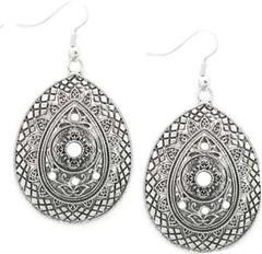 5th Avenue White Earrings P5611-2