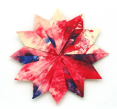 Fujimoto hexagone Rosette  26 front (Pliages et vagabondages) Tags: origami rosette décoration déco fujimoto hexagone