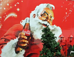Coca Cola's Santa. (maggie jones.) Tags: santa christmas xmas red london cola drink east end coca spitalfields