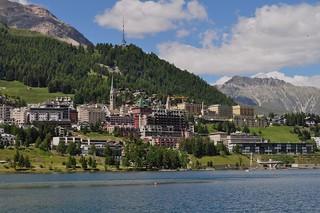 L'Inn et Saint-Moritz, district de Maloja, canton des Grisons, Suisse.
