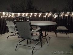 December 25, 2014 - Snow falls on Christmas night. (Michelle Jones)