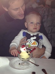"""Paul Eats Snowman Ice Cream at the Walnut Room • <a style=""""font-size:0.8em;"""" href=""""http://www.flickr.com/photos/109120354@N07/16117608111/"""" target=""""_blank"""">View on Flickr</a>"""