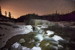 Elbow Falls Night