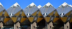 kubuswoningen (parismargherita) Tags: houses netherlands yellow architecture grey rotterdam nikon blaak geometry cubes