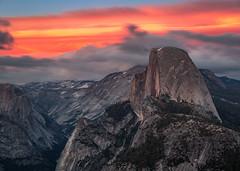 Half Dome sunset (el.merritt) Tags: longexposure sunset rock clouds landscape nationalpark may filter yosemite halfdome magichour glacierpoint ndfilter beautifulearth vle emphoto41