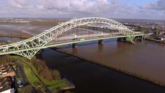 Runcorn Jubilee Bridge (G Manchester) Tags: bridge architecture river construction arch northwest outdoor steel jubilee transport waterway runcorn widnes