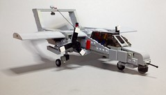 North American Rockwell OV-10 Bronco ([thatjuan]) Tags: airplane coin war lego vietnam bronco cas ov10