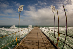 Pt Noarlunga No Fishing (Stuart Templeton) Tags: ocean wild weather port canon waves jetty south australia fisheye sa storms noarlunga