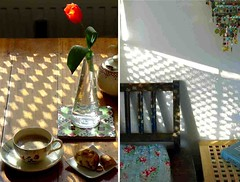 Good morning, sunshine! (cure di marmo) Tags: light shadow kitchen breakfast diptych tulip