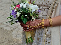 2016 04 16 175 Bride (Mark Baker.) Tags: uk flowers wedding england english mill bride photo europe european pattern baker hand cheshire britain outdoor mark united union great eu bank kingdom national photograph trust gb british bouquet henna quarry styal picsmark