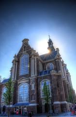 Westerkerk Sunburst (Tryppyhead) Tags: church amsterdam spring thenetherlands hdr jordaan westertoren westerkerk 2016 nikond7200