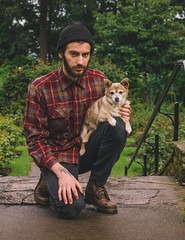 Dog Child and I (Jake Arciniega) Tags: oregon portland pomchi canont2i vscofilm