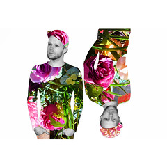 EXPERIMENTAL - Fashion vol. 3 (Davey-van-Lienden) Tags: pink flowers red roses blackandwhite orange selfportrait holland color green colors monochrome dutch fashion yellow beard europe experimental purple upsidedown doubleexposure thenetherlands experiment fake rotation plasticflowers bearded rotated dutchie