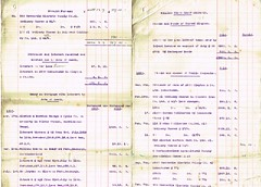 Detailed Accounts of the Estate of Reverend William Tudor Thorp, 1841-1919 total 35, 626 13s 6d. Includes names of people to whom payments due, Income etc. p5-6 (North West Kent Family History Society) Tags: christchurch london silver born major married wwi property son alnwick northumberland somersethouse captain division 1890 1920 lancastergate died 1917 royalengineers 1863 1884 granted 1879 dispute 1869 1866 1896 1882 1881 1864 creditors debts killedinaction sarahgraham chathill williamrobson thomasthorp funeralexpenses 11thnovember1919 13thapril1918 ecbdcollection estateduty charltonhall narrowgatehse 2nddecember1919 1841alnwick elizabethjanetudor emilysarahwest 24thoctober1871 marialouisajones 16thjune1875 elisabeththorp thomasalderthorp richardfenwickthorp williamtudorsaycethorp1876 robertoakleyvavasourthorp1877 collingwoodforsterthorp beatricejanefenwickthorp reginaldpearcethorp williamedwardlong claimsforduty estatedutyoffice haroldtragettthorp maudelizabethstaffordsanderson laurenceelliotbooth wallaceernestbritten 1stjune1921 janeelizabeththrorp