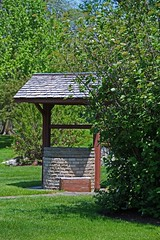 By the Wishing Well-vertical (Michiale Schneider) Tags: wishing well elmore ohio garden nature schedelarboretum landscape michialeschneiderphotography