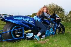 Lisa F_3522 (Fast an' Bulbous) Tags: santa woman hot sexy girl bike race speed drag pod nikon power gimp fast redhead motorcycle d7100