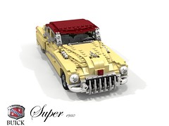 Buick 1950 Super Saloon (lego911) Tags: 1950 super sedan saloon 1950s classic chrome luxury auto car moc model miniland lego lego911 ldd render cad povray usa america gm general motors harley earl buick foitsop