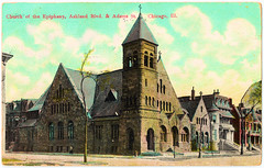 Chicago - Church of the Epiphany (pepandtim) Tags: postcard old early nostalgia nostalgic chicago church epiphany 44cce54 ashland blvd bvd boulevard adams st street illinois printed germany 01051911 1911 vince lower studley trowbridge wiltshire england uk great britain will churches jack river hunt rats chum walter