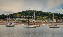 Mayhem Blue (Ollie_57.. on/off) Tags: uk trees summer england urban beach water june canon buildings reflections landscape boats yacht hill devon 7d hdr teignmouth hbm 2016 shaldon riverscape teignestuary ef24105mm ollie57 affinityphoto