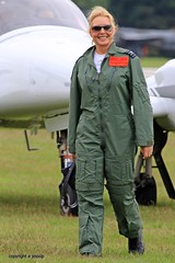 Carol Vorderman  J78A0034 (M0JRA) Tags: people flying aircraft airshow carol planes raf cosford vorderman