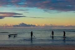 Calm Before The Waves (darren.cowley) Tags: beach sunrise hawaii surf waves waikiki silhouettes calm pacificocean
