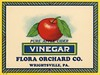 Pure Apple Cider Vinegar Label, Flora Orchard Company, Wrightsville, Pa. (Alan Mays) Tags: ephemera labels vinegarlabels vinegarbottlelabels bottlelabels advertising advertisements ads paper printed vinegar vinegars cidervinegar cider applecidervinegar ciders applecider pure purity apples fruits floraorchard flora floraorchardco orchards companies illustrations red yellow green blue wrightsville pa yorkcounty pennsylvania antique old vintage borders typefaces type typography