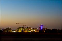 Tel Aviv Night Construction (mikeyp2000) Tags: telaviv night buildings israel silhouette evening skyline sunset