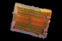 AMD@14nm@GCN_4th_gen@Polaris_10@Radeon_RX_470@1622_M60J5.0A_215-0876204___Stack-DSC07658-DSC07702_-_ZS-retouched (FritzchensFritz) Tags: lenstagger macro makro supermacro supermakro focusstacking fokusstacking focus stacking fokus stackshot stackrail amd radeon rx 470 480 polaris 10 gcn 4th gen 14nm gpu core heatspreader die shot gpupackage package processor prozessor gpudie dieshots dieshot waferdie wafer wafershot vintage open cracked