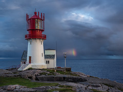 Lindesnes Fyr and a rainbow (martin.matte) Tags: lindesnesfyr norway norwegen rainbow lighthouse water cliffs sky landscape landschaft olympus em10