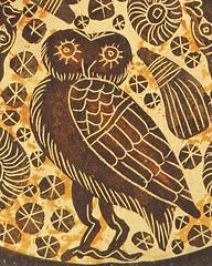 Greek Pottery Detail (tedavisphotography) Tags: sonya65 corelpaintshoppro greece greek pottery oillamp owl athena corinthianperiod