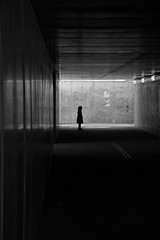 Underpass (elle.jimmy) Tags: tunnel child silhouette