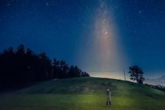 le petit prince I (marco soraperra) Tags: landscape sky stars milkyway night nocturne tree trees mountain person stardust nikon nikkor