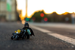 Batman hates babysitting (Ballou34) Tags: 2016 650d afol ballou34 canon eos eos650d flickr lego legographer legography minifigures photography rebelt4i stuckinplastic t4i toy toyphotography toys rebel stuck plastic hamburg sipgoeshamburg2016 batman street dc dccomics comics gotham baby babysitting babysitter stroller road sunrise morning