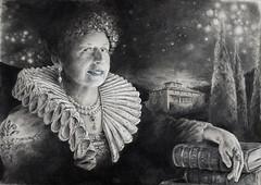 P. (Riccardo Martinelli) Tags: gorgiera ritratto portrait vintage disegno drawing