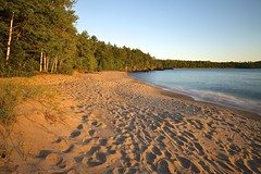 hibbard bay (twurdemann) Tags: algoma beach crownland fujixt1 goldenhour hibbardbay highway17 hoyandx8 lakesuperior longexposure neutraldensityfilter sand seascape shoreline summer sunset swim water xf14mm