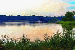 Brian_Kennersley Pt Marina 1a LG_Paint FX_073116_2D (starg82343) Tags: 2d brianwallace water reflections kennersley marina chesterriver serene serenity tranquil tranquility waterscape grasses paintingfx painteffect effects digitalmanipulation