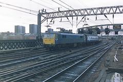 BRITISH RAIL 86239 LS LOWRY (bobbyblack51) Tags: british railways class 862 br design bobo electric locomotive 86239 ls lowry glasgow central station 1987