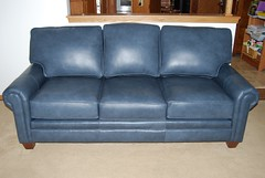 5000 series Sofa (Brian's Furniture) Tags: 5000 series sofa variation 536210 tapered legs paneled arms no tcushion loose back cushions leather 2410 maple stained blue navy po827168312 brow