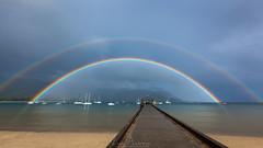 Double The Luck (Lace Photos www.lacephotos.com) Tags: kauai hawaii hanalei rainbow