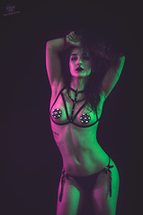 Julia (rubenfcid) Tags: julsasphyxia juliabathory lowkey gels colourlights gente studio surrealista fetish lingerie boudoir sexy hot girl woman lady interior portrait beauty cute pretty fondo negro