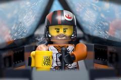 Poe's tea time (Shobrick) Tags: starwars theforceawakens poe xwing episode 7 pilot galaxy lego minifig mug maytheforcebewithyou cockpit toys macro canon 5dmarkiii shobrick lucasart warnerbros geek